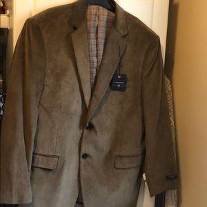 Corduroy taupe 2 button blazer